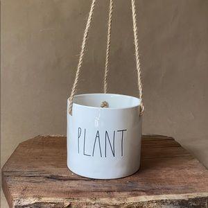 "Rae Dunn ""Plant"" hanging planter"